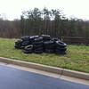 4/11/2013: Coca-Cola Drive next to Deep Run, Howard County. 51 tires by the road, ready for pickup.