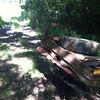 8/4/2013: Hammonds Ferry to Annapolis Road access lane. Wheelbarrow load #2 of 7.