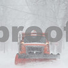 Kyle Bursaw — kbursaw@shawmedia.com<br /> <br /> A plow clears snow on North Second Street in DeKalb, Ill. on Tuesday, March 5, 2013.