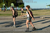 Argentina: Paseo de la costa en Vicente Lopez. Las personas se recrean andando en bicicleta o rollers frente al Rió de la Plata. / Argentina: Coast walk in Vicente Lopez. People recreate biking or rollers against the Rio de la Plata.