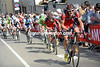 BMC lead the charge up the Cauberg, with Marcus Burghardt at the front...