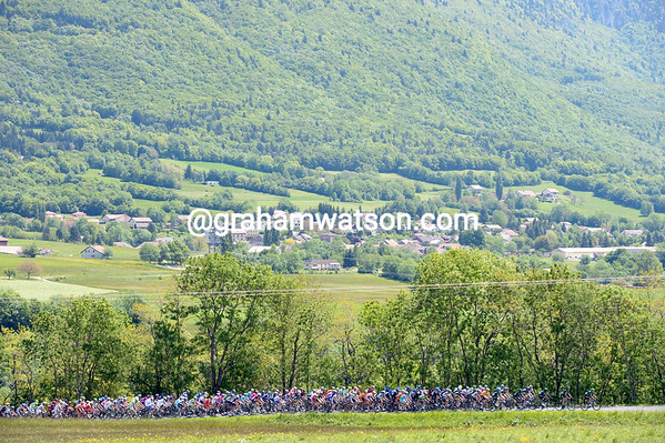 There are signs of summer at last as the Dauphiné moves west from the Alps...