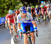 Michele Scarponi launches an attack ahead of Fuglsang...