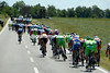 The wind continues to wreak havoc on the peloton, it splits, re-groups, then splits again...