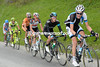Gesink leads five others in pursuit of the Weening-Visconti escape...