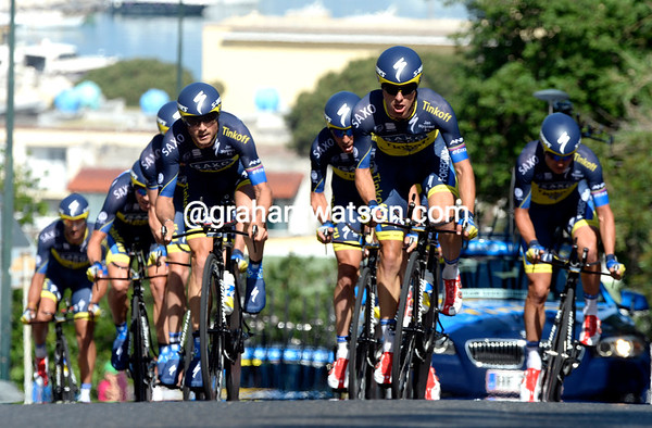 Saxo-Tinkoff took a lowly 15th place, 43-seconds down...