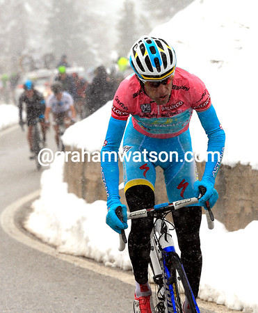Nibali has made his final attack - the chasers won't see him again today...