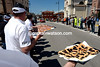 Game on - pastries and salami await the hungry and tired cyclists a few kilometres down the road...