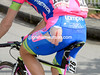 Like many others, a Lampre rider is showing the scars of a slippery descent back to the sea...
