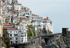 The Giro climbs away from the town of Amalfi, strung-out because of the never-ending bends...