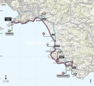 Giro d'Italia Stage 3: Sorrento : Marina di Ascia, 222kms