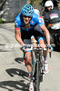 Ryder Hesjedal has attacked near the top, he has only Luca Paolini for company...