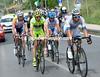 Bert De Backer leads the escape towards the penultimate climb, 60-kilometres from the finish...