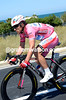Luca Paolini has a matching pink and white outfit on today...