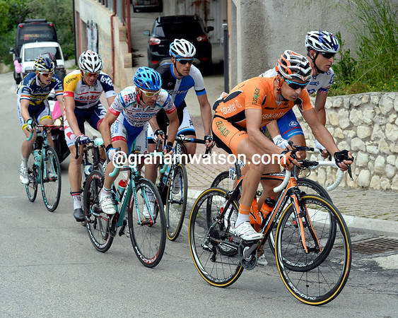 The escape is led by Tamouridis and Rollin, but the peloton is chasing them now...