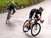 Valverde and Quintana have got away on the Sormano and begin the descent to Lake Como...