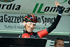 It's a goodbye to him - Marco Pinotti waves to the crowds as he sign-on for his last-ever race...