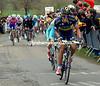 Alberto Contador attacks from the peloton..!