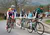 Vinecnt and DeClerq climb the Haute Levée with a four minute gap...