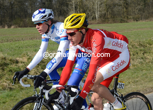 Jerome Coppel and Yoann Offredo pass the time of day under ideal conditions...