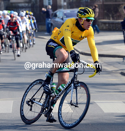 Gaudin is a long way from stressing over his race-leadership at these speeds...