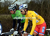 """""""Let's keep it French"""": Sylvain Chavanel and Nacer Bouhanni are discussing a potential change of race-leadership in the uphill sprint-finish today..."""