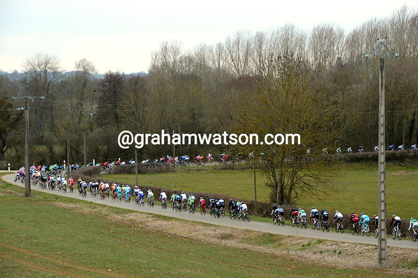The peloton has started to wake from its long slumber...