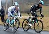 Vasillii Kiryienka attacks over the summit with Grivko on his wheel...