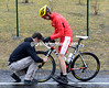 Rein Taaramae's day starts with a flat tyre...