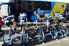 What's going on here then? Seems Saxo-Tinkoff are warming up before the uphill start to the day...