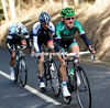 Thomas Voeckler is on the loose, tearing away with two others over the first two climbs...