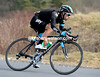 Richie Porte descends another hill, about halfway through the stage...