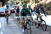 Voeckler's seven men crest the highest point of the day with 50-kilometres to go and a three minute lead...