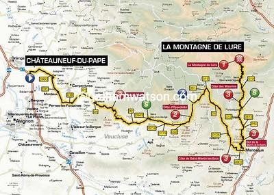 Paris-Nice Stage 5: Chateauneuf-du-Pape > La Montagne de Lure, 176kms
