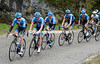 Dsvid Millar laads the Garmin train in pursuit on the Col de Murs...