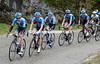 Dsvid Millar laads the Garmin train in pursuit on the Col de Murs...