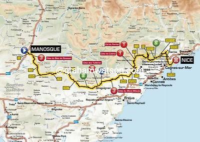 Paris-Nice Stage 6: Manosque > Nice, 220kms