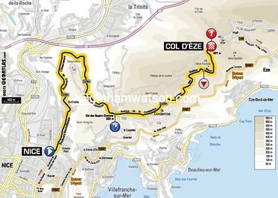 Paris-Nice Stage 7: Nice > Col d'Eze, 9.6kms