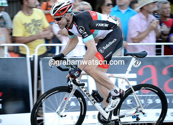 Jens Voigt has attacked after 200-metres of the race starting..!