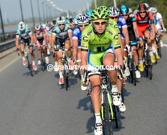 Cameron Wurf is doing Cannondale's work, as he has done so often this season...