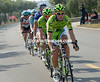 Cannondale is the team doing the first shift at the front...