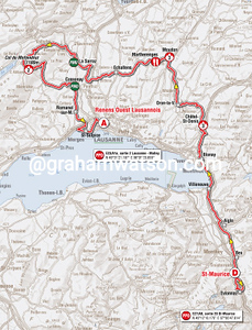 Stage 1: St Maurice > Renens, 176.8kms