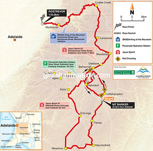 Stage 2 Mt Barker > Rostrevor, 116.5kms