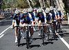 The entire Blanco team has split the peloton in the crosswinds..!