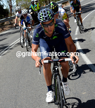 Andrey Amador is up there as well, Movistar also need a result..!