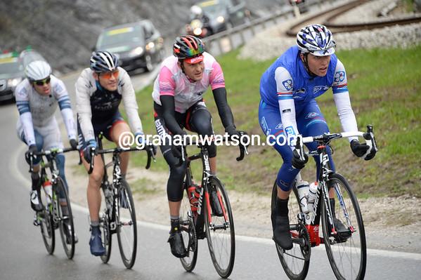 Artur Vichot is leading a quartet away after 30-minutes racing...