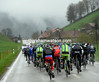The prospects of a sunny day don't look to promising for this peloton today...