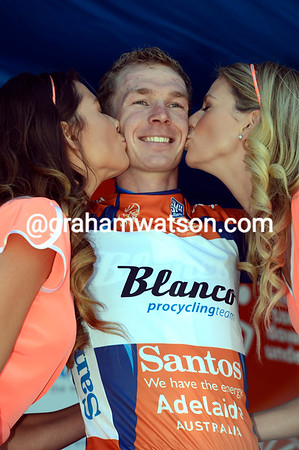 Tom-Jelte Slagter becomes the new race-leader of the Tour Down Under..!