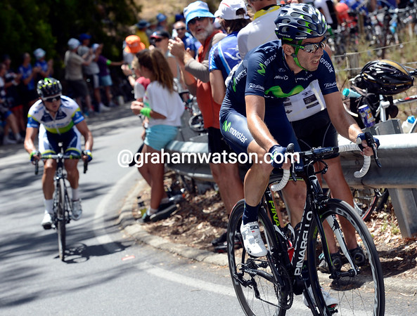Moreno is about to be caught by Gerrans...