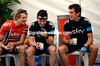 Geraint Thomas doesn't look too disappointed at losing the race yesterday - he has Chris Sutton and Edvald Boasson Hagen to cheer him up..!
